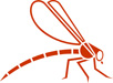 red dragonfly graphic